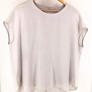 MM Lafleur Short Sleeve Grey Blouse